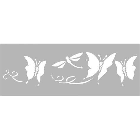 pochoir frise papillons 15x40cm dtm