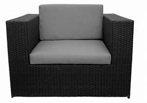 Fauteuil De Jardin En Résine Tressée : fauteuil de jardin r sine tress e puzzle noir meubles de jardin ~ Teatrodelosmanantiales.com Idées de Décoration