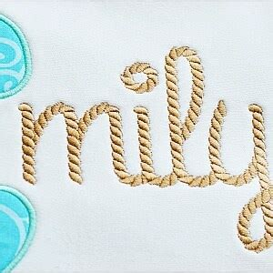 rope embroidery font planet applique