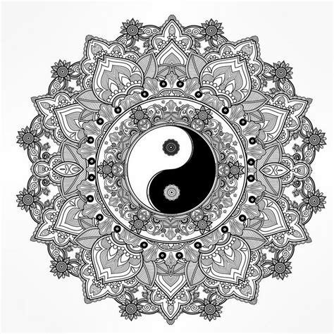 Mandalas Für Experten ausmalbilder erwachsene mandala yin yang experte