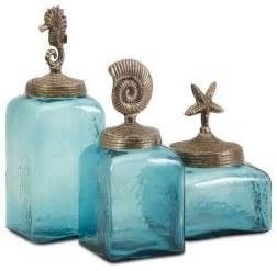kitchen decorative canisters turquoise blue sea canisters set of 3 style kitchen canisters and jars by