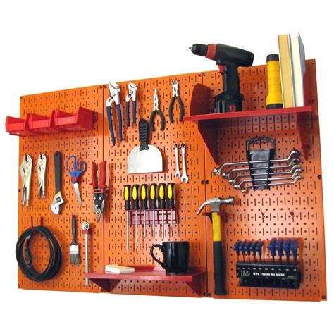 Storage Pegboard by Wall 32 In X 48 In Metal Pegboard Standard Tool