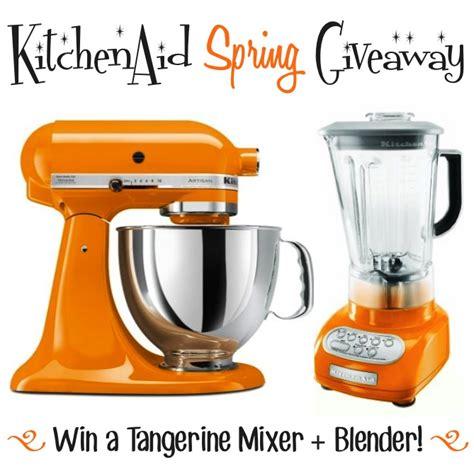 kitchen aid tangerine mixer  blender giveaway chef