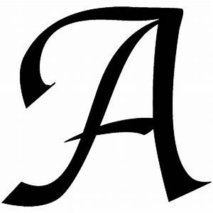 amazoncom letter a style 03 decal sticker black 5 With 5 inch letter stickers