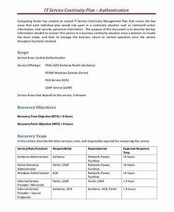 5 service plan samples templates pdf doc With business continuity plan template for financial services
