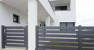 Aluminium Zaun Modern : brix frontline alu zaun tor horizontale profile brix ~ Articles-book.com Haus und Dekorationen