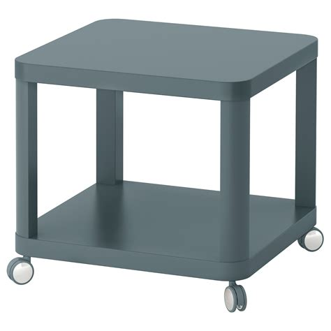 ikea side table tingby side table on castors turquoise 50x50 cm ikea