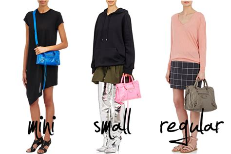 balenciaga introduces  small classic city bag size spotted fashion