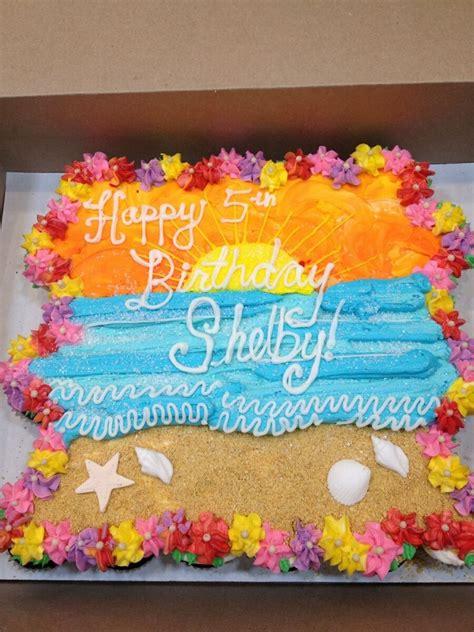 luau pull  cake pull  cupcake cake birthday
