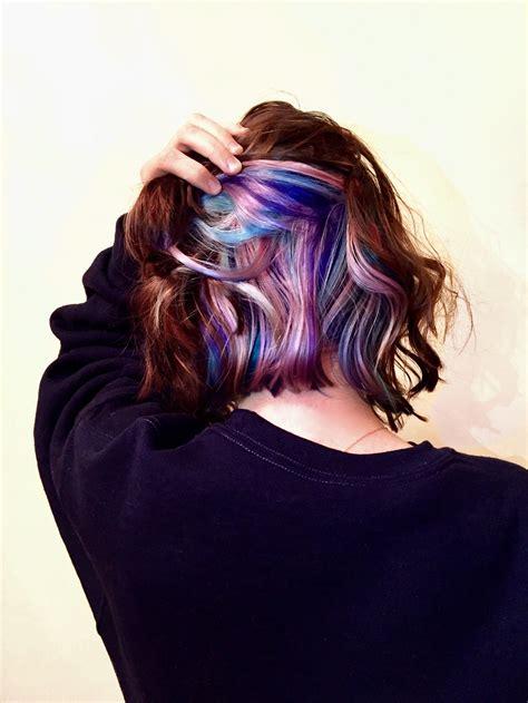 peekaboo pastel unicorn hair hairstyles
