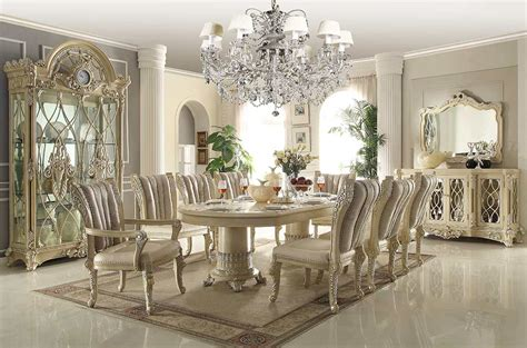 Traditional Luxury Dining Table In Beige Hd085