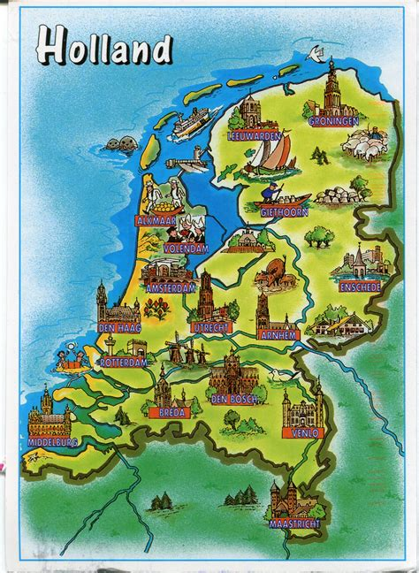 map  holland remembering letters  postcards