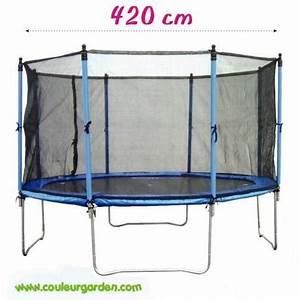 Filet De Sécurité : trampoline avec filet de s curit ~ Melissatoandfro.com Idées de Décoration