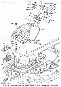 Yamaha Waverunner 1999 Oem Parts Diagram For Engine Hatch 1