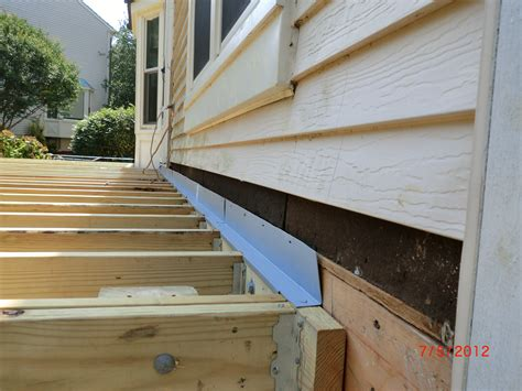 porch deck ledger to buildings step by step on how to build a deck