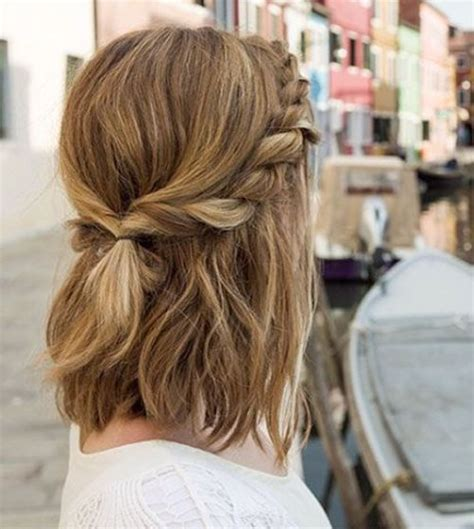 48 easy updos for short hair to do yourself hairs london