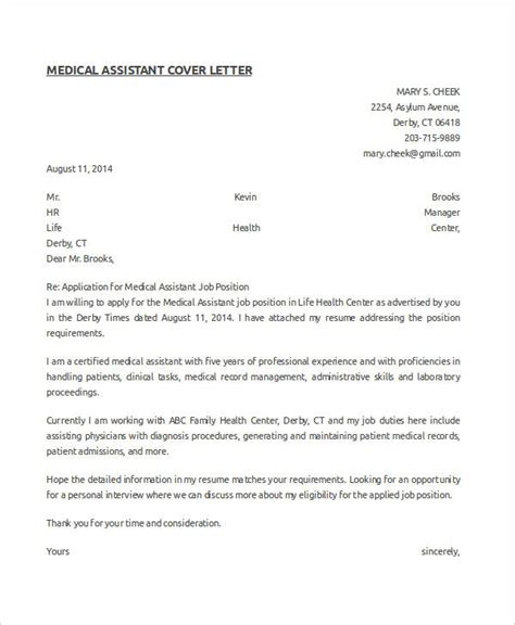 How You Write Medical Assistant Cover Letter With No