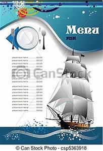 Vector of Fish Restaurant (cafe) menu - Fish Restaurant ...