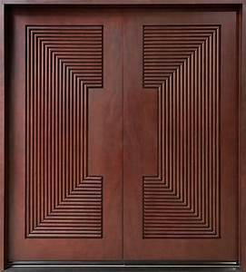 Mahogany Solid Wood Front Entry Door - Double Master