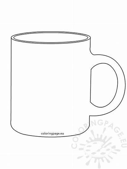 Template Mug Coffee Cup Printable Templates Drawing