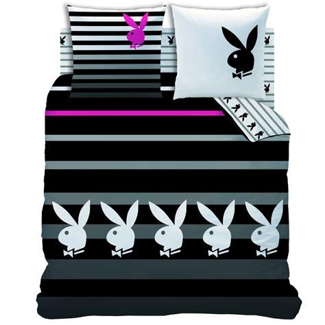housse de couette play boy housse de couette parure de lit 240 x 220 cm quot stripes quot decokids tous leurs h 233 ros