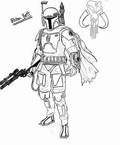 Star Wars Coloring Pages Boba Fett - AZ Coloring Pages
