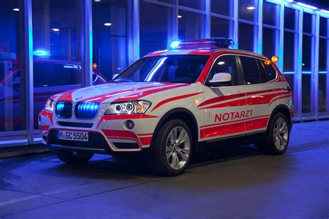 Bmw Vehicles by Bmw Showcases Emergency Service Vehicles