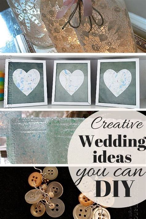 creative wedding ideas you can diy creative wedding