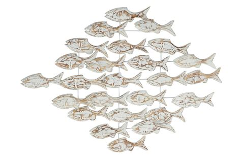 String it up horizontally among two points (i found it much easier to hang it up vs. 26 Inch Swimming Fish Wall Art | Living Spaces