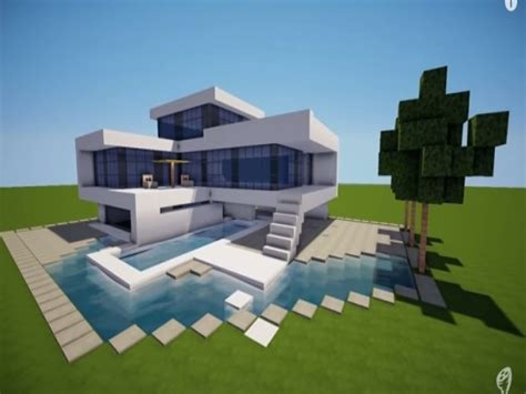 small modern house minecraft modern house build a modern