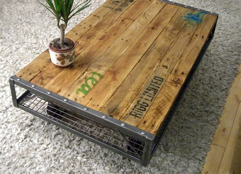 table cuisine palette industrial pallet coffee table