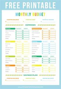 free printable budget sheet printable crush