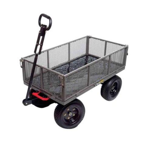 gorilla carts 1 200 lb steel multi use dump cart gormp 12
