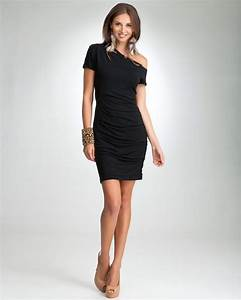 Beautiful black dresses for pretty slender women