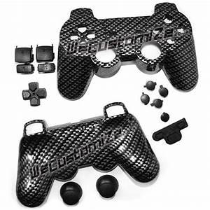 Carbon Fibre Shell  U0026 Jet Black Button Set Parts  Only  U00a39