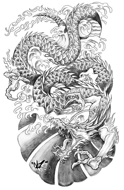 dragon tattoo sleeve outline - Google Search | Cars Bikes n' sh*t | Tattoos, Japanese dragon
