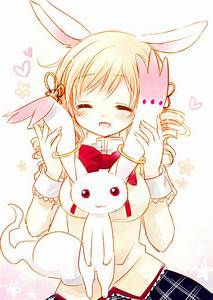 Cute blonde anime girl