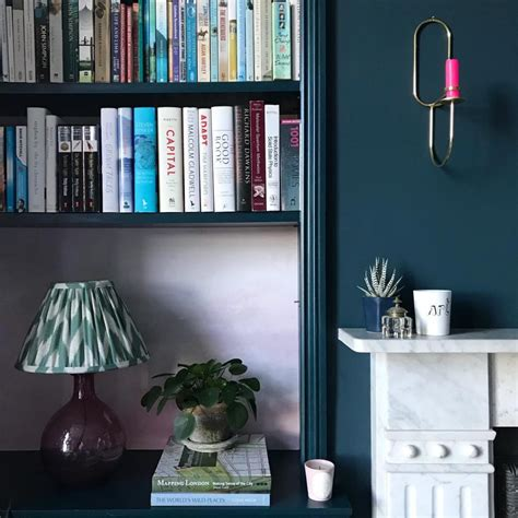 Farrow & Ball Hague Blue Living Room - Interiors By Color
