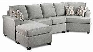 Downtown 2 piece left facing sectional grey leon39s for Sectional sofa by the piece