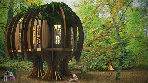 Tiny Häuser Besichtigen by Baumhaus Im Wald Holz Magisch Ruhig Fee Treehouse