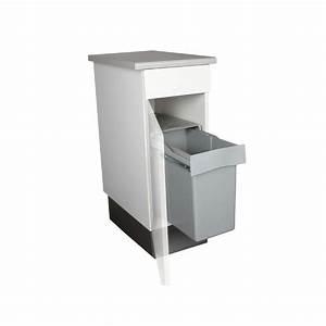 Meuble Poubelle Cuisine : poubelle de cuisine coulissante 1 bac 30 litres ~ Dallasstarsshop.com Idées de Décoration