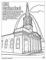 Coloring Louis Saint St Cathedral West Activity Coloringbook sketch template