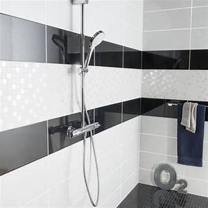 best modele carrelage salle de bain noir et blanc gallery With modele carrelage salle de bain noir et blanc