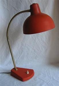 Lampe De Bureau Ancienne : ancienne lampe de bureau r flecteur en m tal rouge pied en fonte 2258 brocante en ~ Teatrodelosmanantiales.com Idées de Décoration