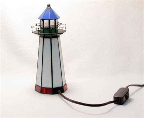 stained glass lighthouse l stained glass lighthouse light nautical vintage home decor