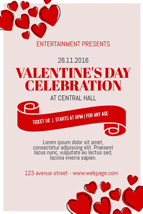 valentines day event poster template  valentines
