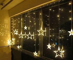 Weihnachtsbeleuchtung Innen Fenster : salcar luci colorate stelle led shop24ore ~ Orissabook.com Haus und Dekorationen