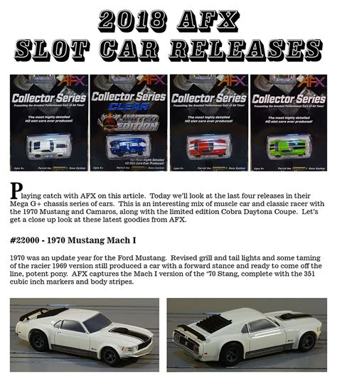 afx car releases speed  tomy afx product