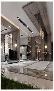 luxury living room + main hall - interior design villa ...