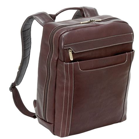 bugatti norcia columbian leather laptop backpack work
